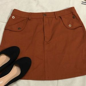 NWOT Very J Copper/Rust colored skirt